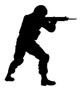 Soldier Silhouette v23 Decal Sticker