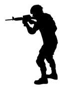 Soldier Silhouette v24 Decal Sticker