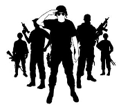 Soldiers Decal Sticker