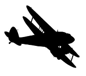 Biplane v1 Decal Sticker