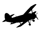 Biplane v2 Decal Sticker