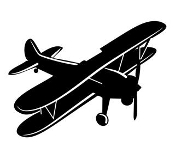 Biplane v3 Decal Sticker