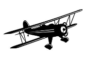 Biplane v4 Decal Sticker