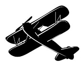 Biplane v5 Decal Sticker