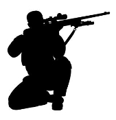 Soldier Silhouette v25 Decal Sticker