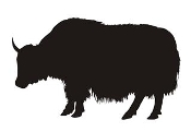 Yak Silhouette Decal Sticker