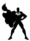 Superman Silhouette Decal Sticker