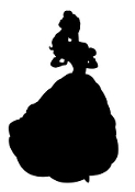 Belle Silhouette Decal Sticker