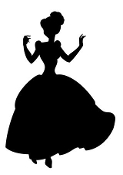 Cinderella Silhouette Decal Sticker