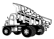 Dump Truck v3 Decal Sticker