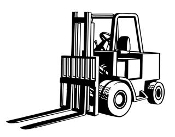 Fork Lift v2 Decal Sticker