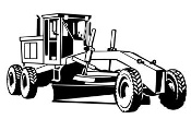 Road Grader v2 Decal Sticker