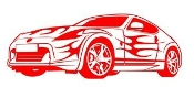 Sports Car v2 Decal Sticker