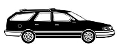 Station Wagon Decal Sticker