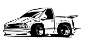Truck Cartoon v2 Decal Sticker
