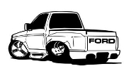 Truck Cartoon Decal Sticker
