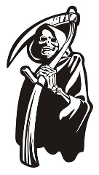 Grim Reaper v2 Decal Sticker