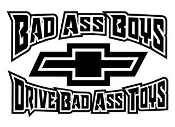 Bad Ass Boys Chevy v2 Decal Sticker