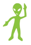 Alien v14 Decal Sticker