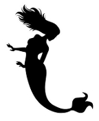 Mermaid Silhouette v4 Decal Sticker