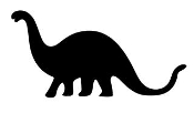 Dinosaur Silhouette 7 Decal Sticker