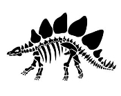 Stegosaurus Skeleton Decal Sticker
