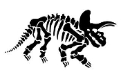 Tricerotops Skeleton Decal Sticker