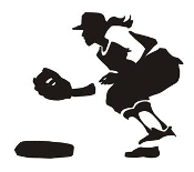 Softball Player 6 Decal Sticker