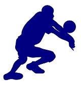 Volleyball Player Silhouette v10 Decal Sticker