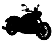 Motorcycle Silhouette v4 Decal Sticker