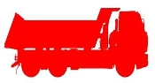 Dump Truck Silhouette v1 Decal Sticker