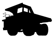 Dump Truck Silhouette v3 Decal Sticker