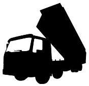 Dump Truck Silhouette v4 Decal Sticker