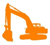 Excavator Silhouette v1 Decal Sticker
