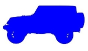 Jeep Silhouette v1 Decal Sticker