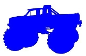 Monster Truck Silhouette v1 Decal Sticker