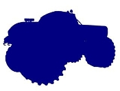Monster Truck Silhouette v2 Decal Sticker
