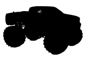Monster Truck Silhouette v3 Decal Sticker