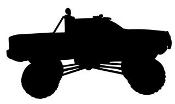 Truck Silhouette v5 Decal Sticker