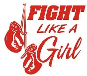 Fight Like A Girl Decal Sticker