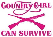 Country Girl Can Survive v2 Decal Sticker