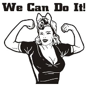 We Can Do It v3 Decal Sticker