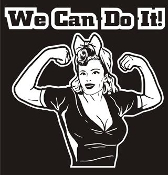 We Can Do It v4 Decal Sticker
