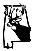 Alabama Deer Hunting Decal Sticker
