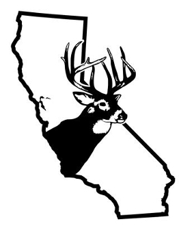 California Deer Hunting Decal Sticker