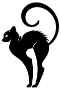 Cat Silhouette v17 Decal Sticker