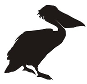 Pelican Silhouette Decal Sticker