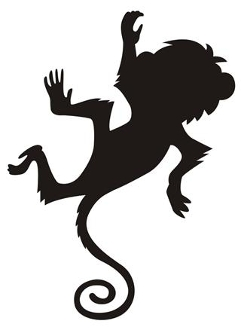 Monkey Silhouette V10 Decal Sticker