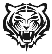 Tiger Head v7 Decal Sticker
