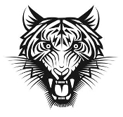 Tiger Head v9 Decal Sticker